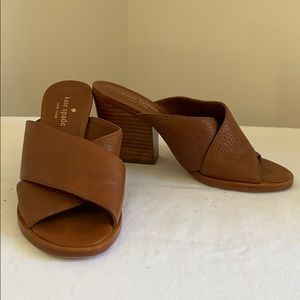 Kate Spade brown leather mules